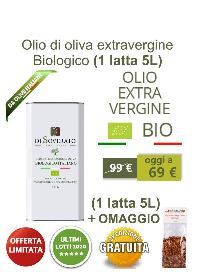 Olio di oliva extravergine biologico (latta 5L)