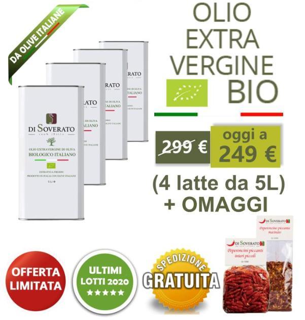 Offerta Olio extravergine d'oliva Biologico 20 L